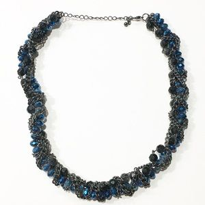 Jewelry - Black blue Clear Statement Accent  necklace